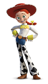 """Jessie in """"Toy Story 2""""- voiced by Joan Cusack (speaking.)"""