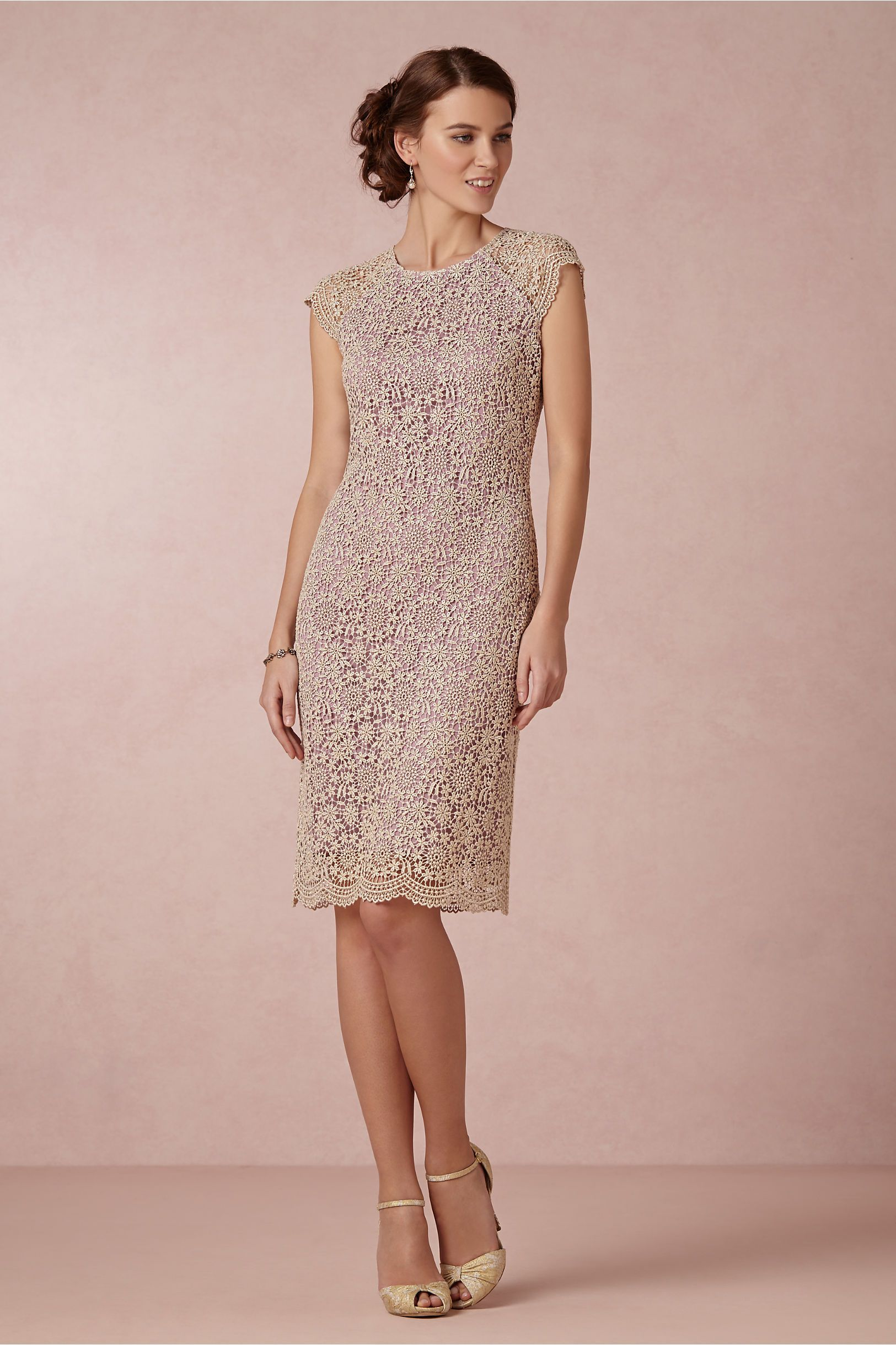 Shined Lace Shift in Bridal Party & Guests Bridesmaids Dresses at ...