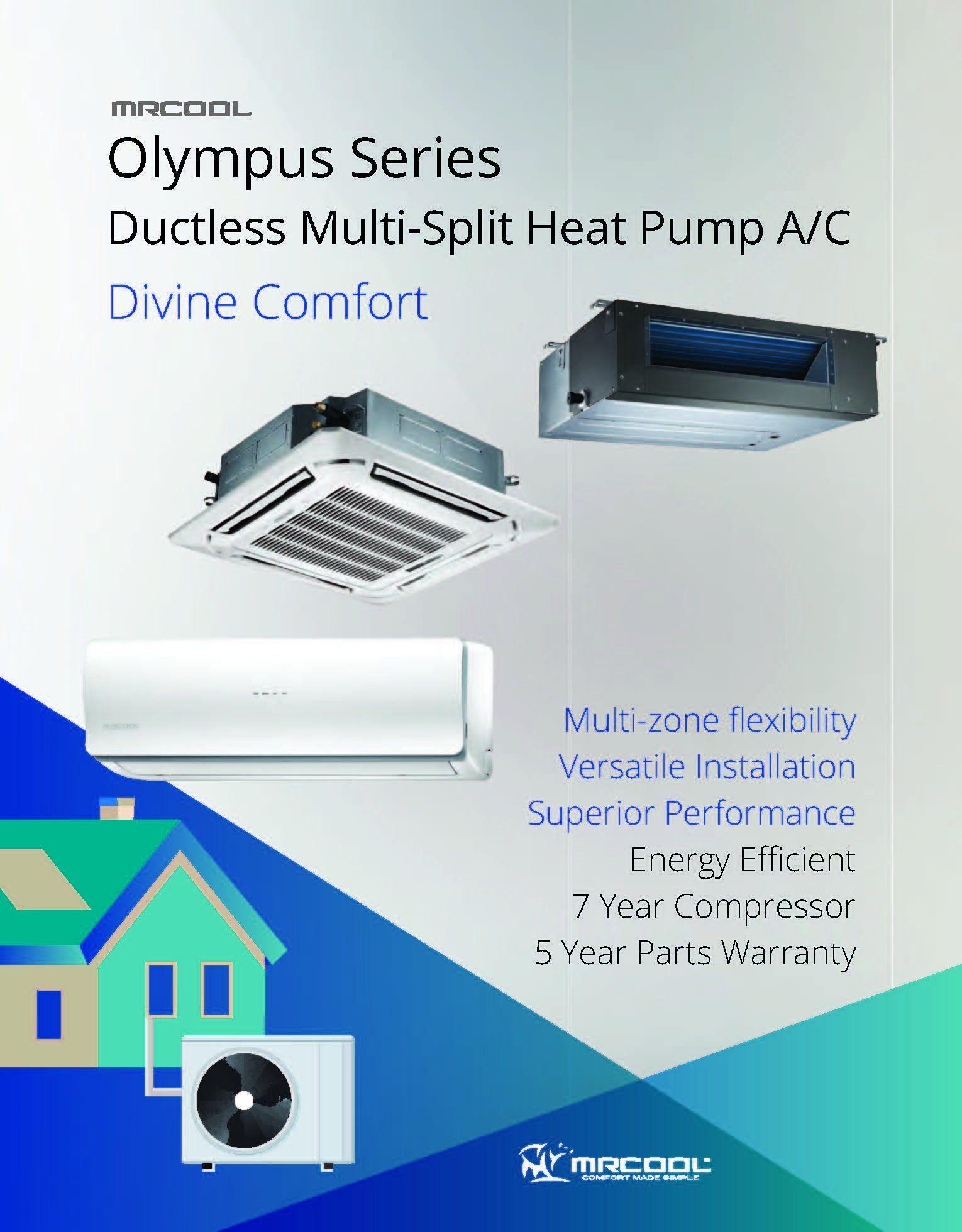 MRCOOL Olympus 36K BTU 3Zone Ductless MiniSplit Heat Pump