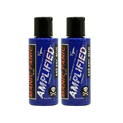 Manic Panic Amplified SemiPermanent Hair Color Cream  Bad Boy Blue 4oz Pack of 2 ** Check out this great product.