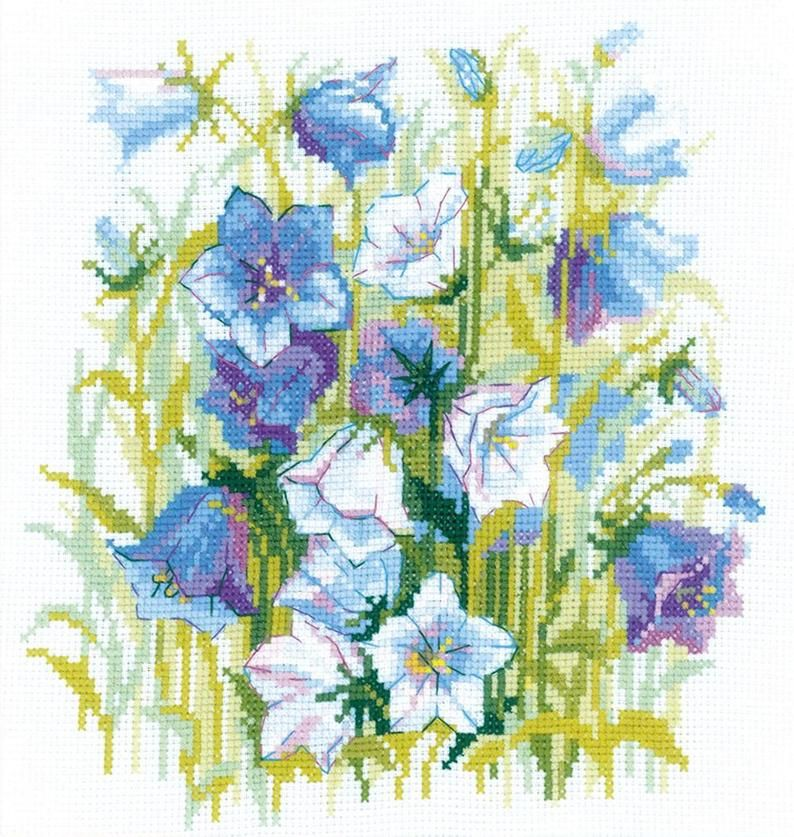 """14 Count RIOLIS Counted Cross Stitch Kit 6/""""X7/""""-Bouquet With Sweet Peas"""