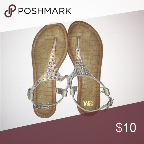 Jewel Sandals Worn once in a wedding. Shoes Sandals