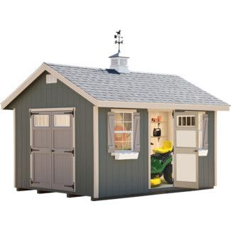 Alpine Structures Riverside 10 Ft W X 14 Ft D Wooden Storage Shed Wayfair Wooden Storage Sheds Shed Storage Build A Shed Kit