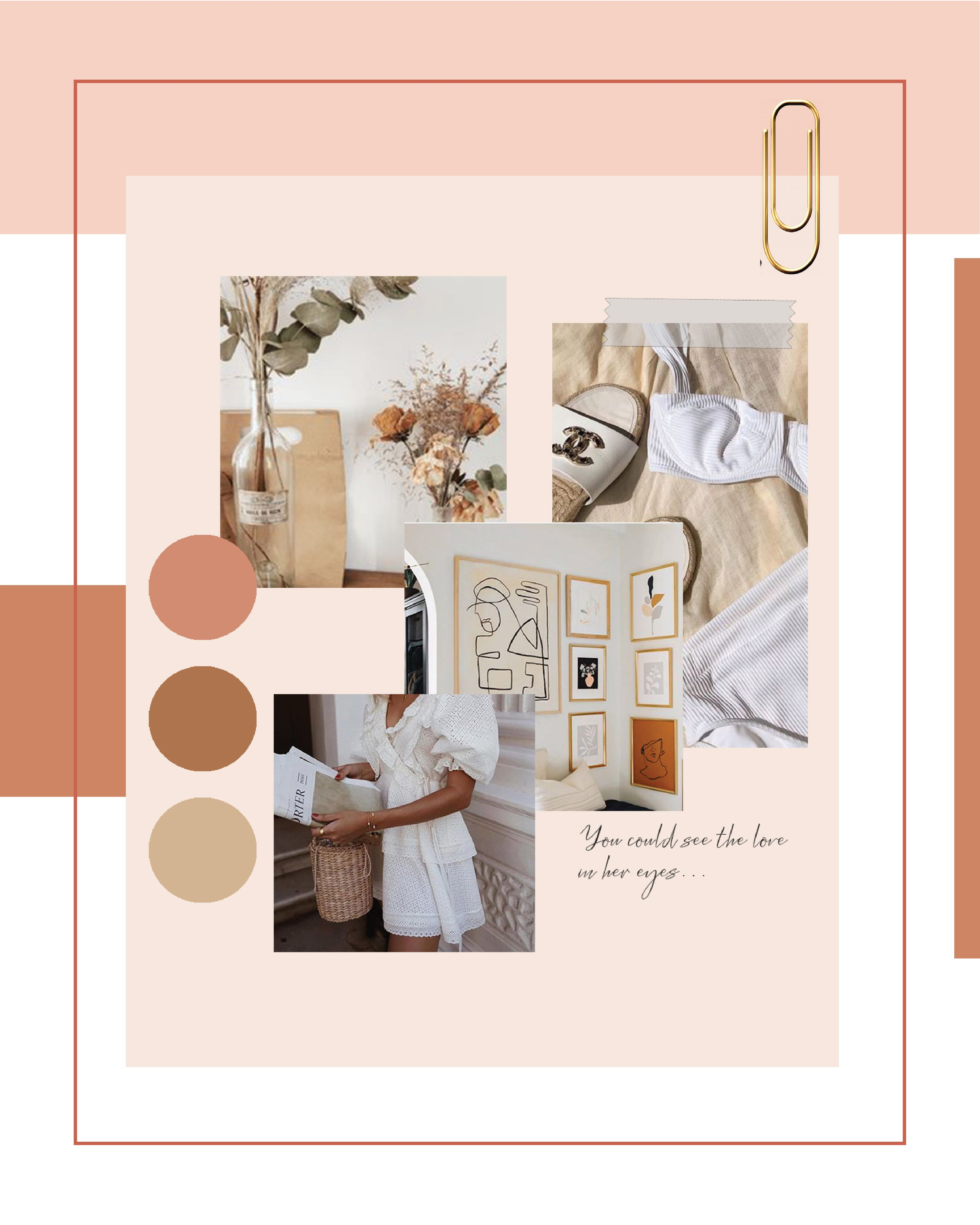 Color Palette Collage Work Graphic Designer Design Layout