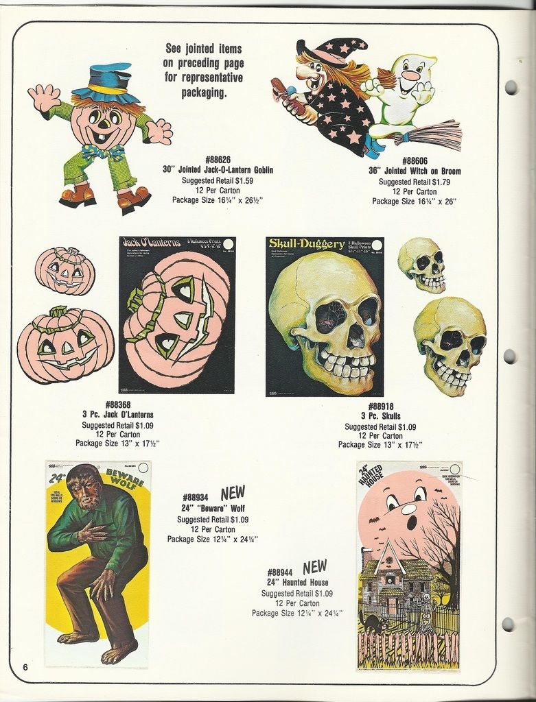1981 eureka halloween decorations catalog