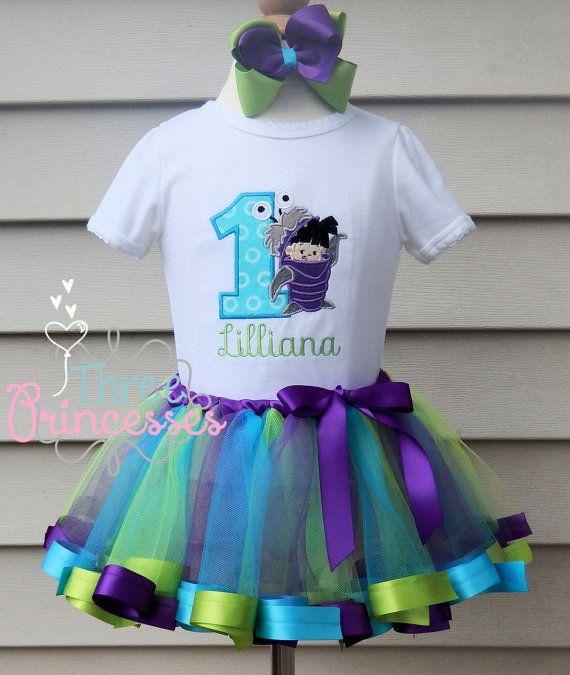 Boo Ribbon Tutu Birthday Outfit Set Shirt by ThreePrincessBows