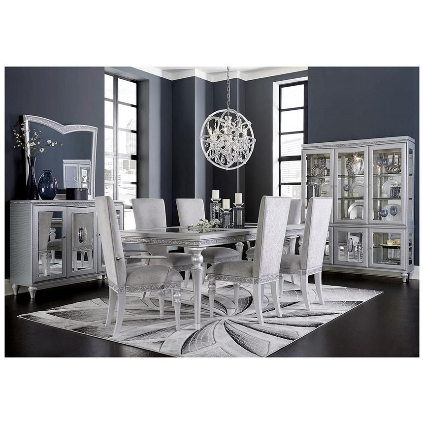 The Melrose Extendable Dining Table Adds A Magnificent Style To Your Dining Room The Silve Contemporary Decor Living Room Luxury Dining Boho Living Room Decor
