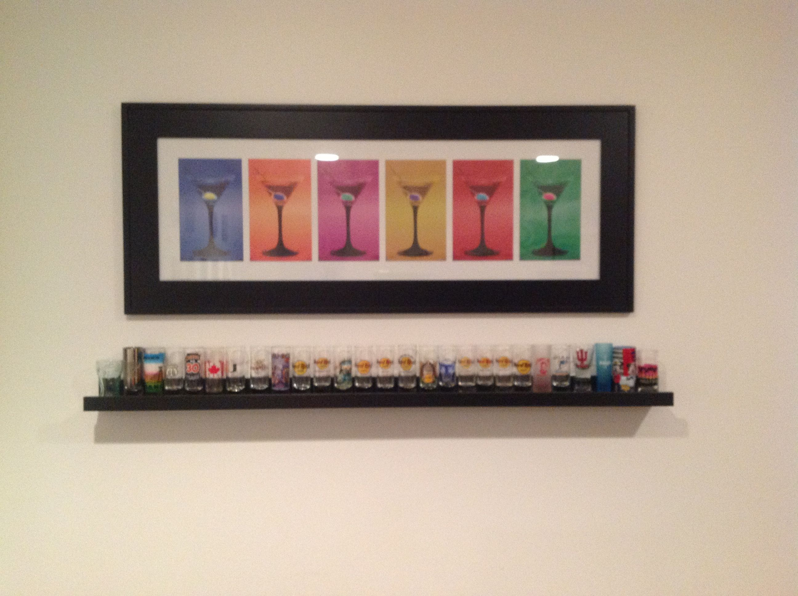 Shelves Found In Ikea Used For Displaying Shot Glasses Crafty