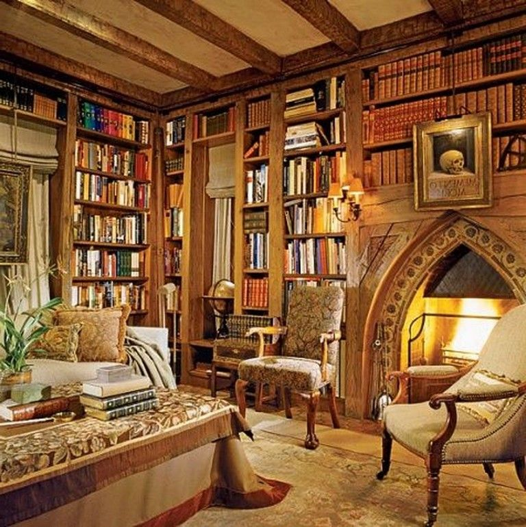Home Librarydesign Ideas: 38+ The Top Home Library Design Ideas With Rustic Style