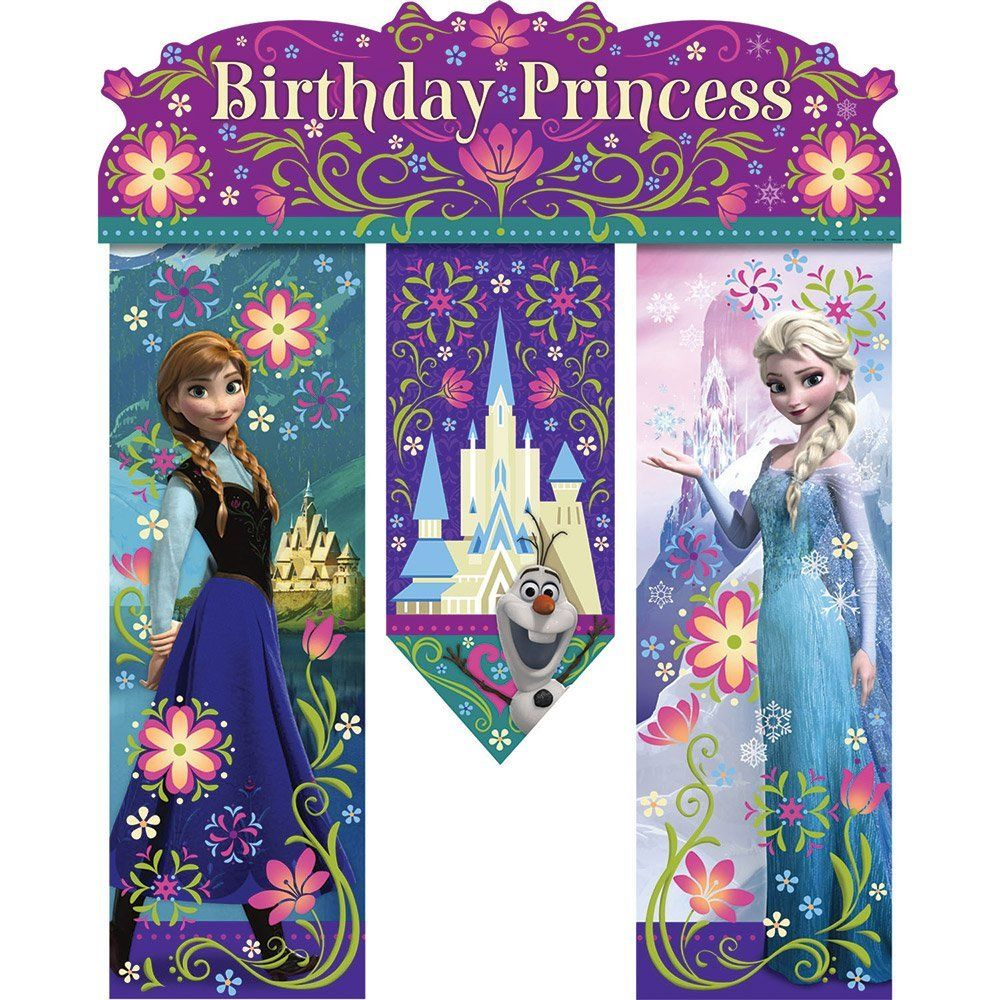 Amazoncom Frozen Birthday Banner Birthday Party Supplies Toys