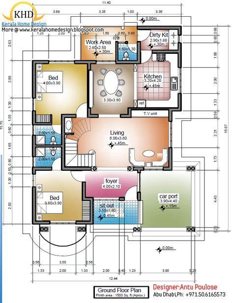 Image Result For 2000 Sq Ft Indian House Plans Indian House Plans Architectural House Plans Kerala House Design
