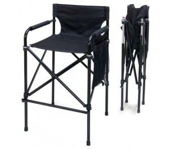 Black Beauty Tall Telescopic Directors Chair Onlinesports Com Folding Chair Chair Chair Design