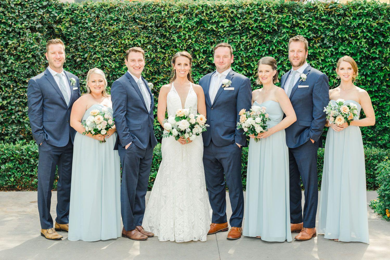 Summertime Wedding At The Santaluz Club In San Diego Ice Blue Bridesmaid Dress Bridesmaid Colors Blue Bridesmaids