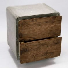 cement furniture. Concrete Cabinet, From Jean Willoughby, Is The Perfect Combination Of Wood And Concrete. Cement Furniture