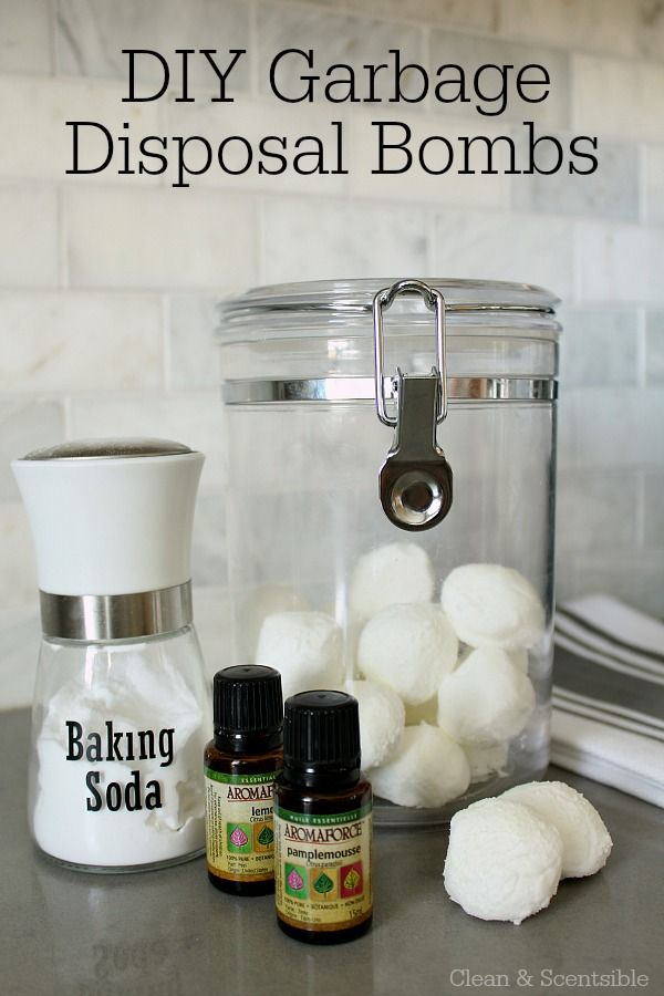 DIY garbage disposal bombs. These are an easy and green way to clean your garbage disposal and smell great! Lots of other tips to maintain and clean a garbage disposal.