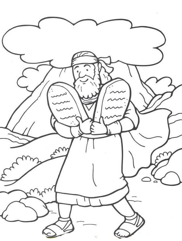 coloring pages ten commandments tablets for sale | #48 Moses and the 10 Commandments | VBS Moses Coloring ...
