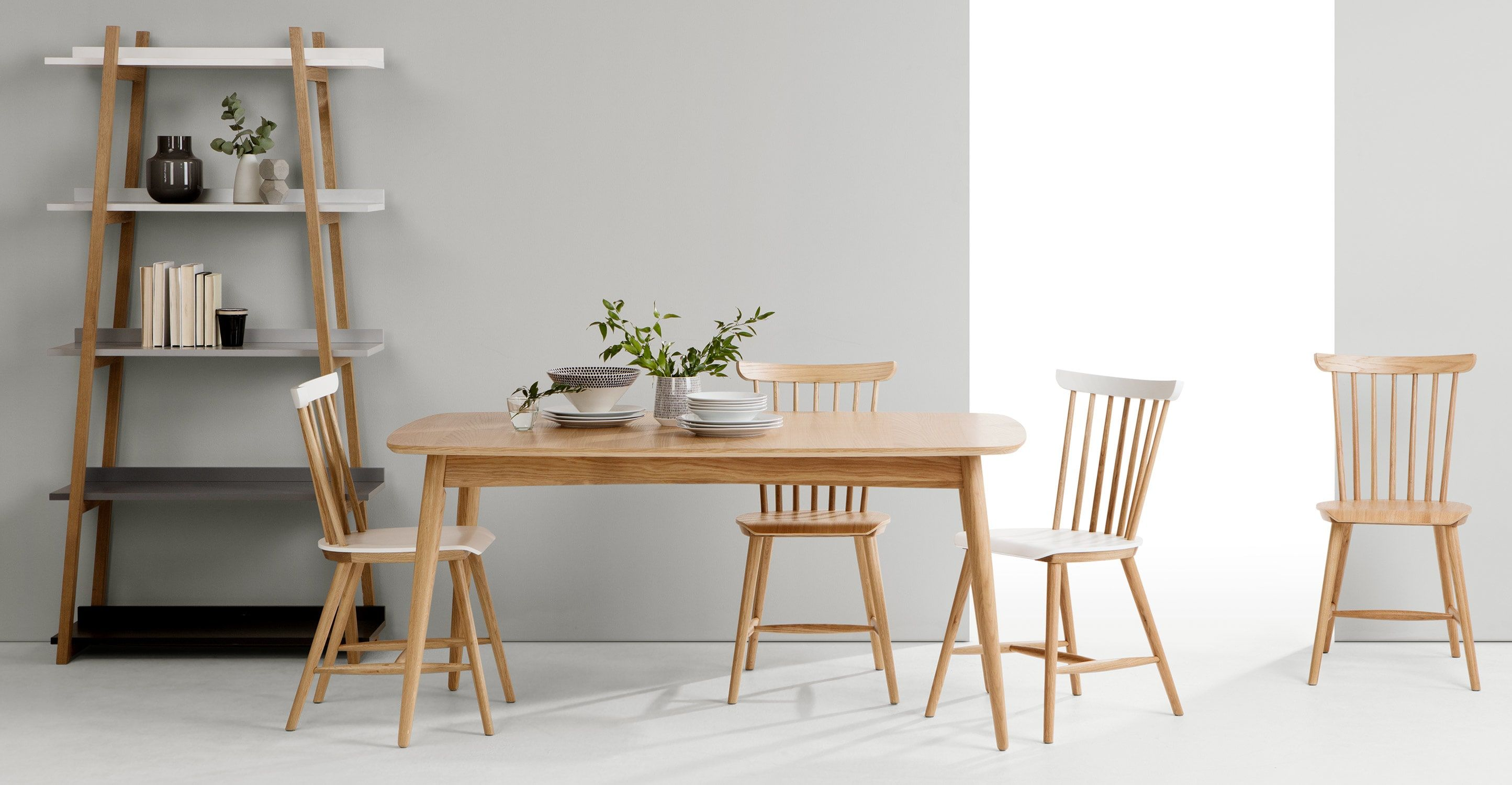 Deauville dining table oak from made light wood take the