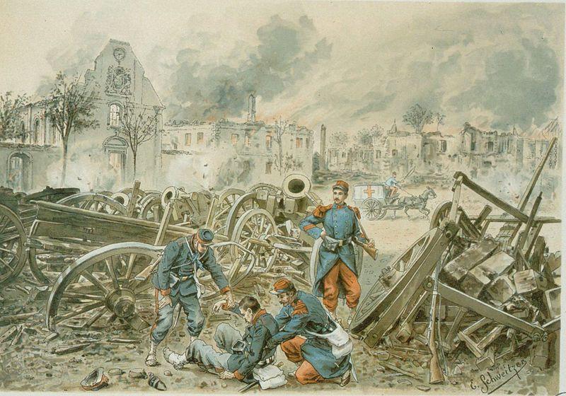 Aspect de l'église bombardement de la citadelle de Strasbourg (1870)
