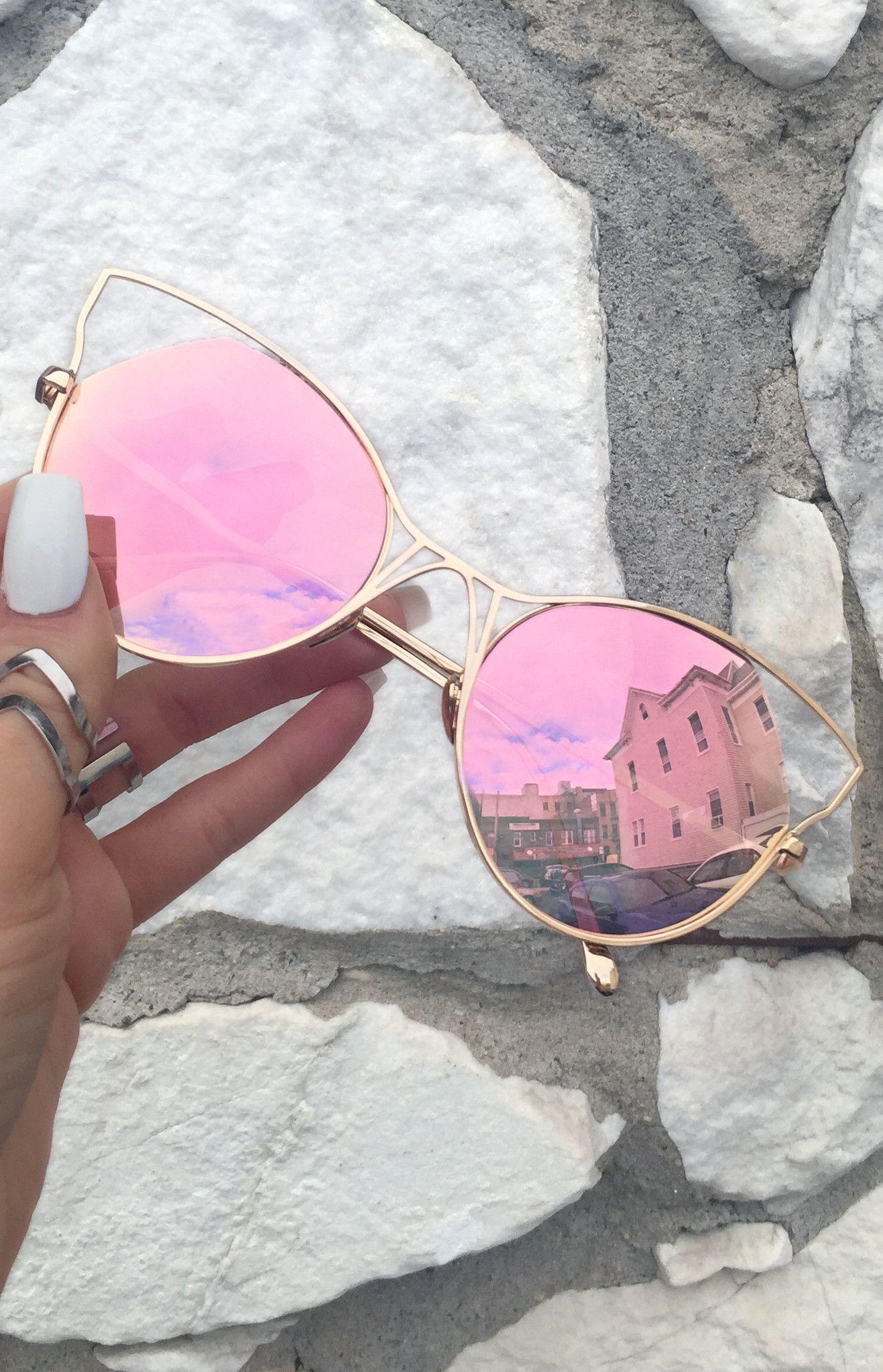 Indecent Cateye Sunnies - Rose Gold + Gold Frame | Lentes, Reloj y ...