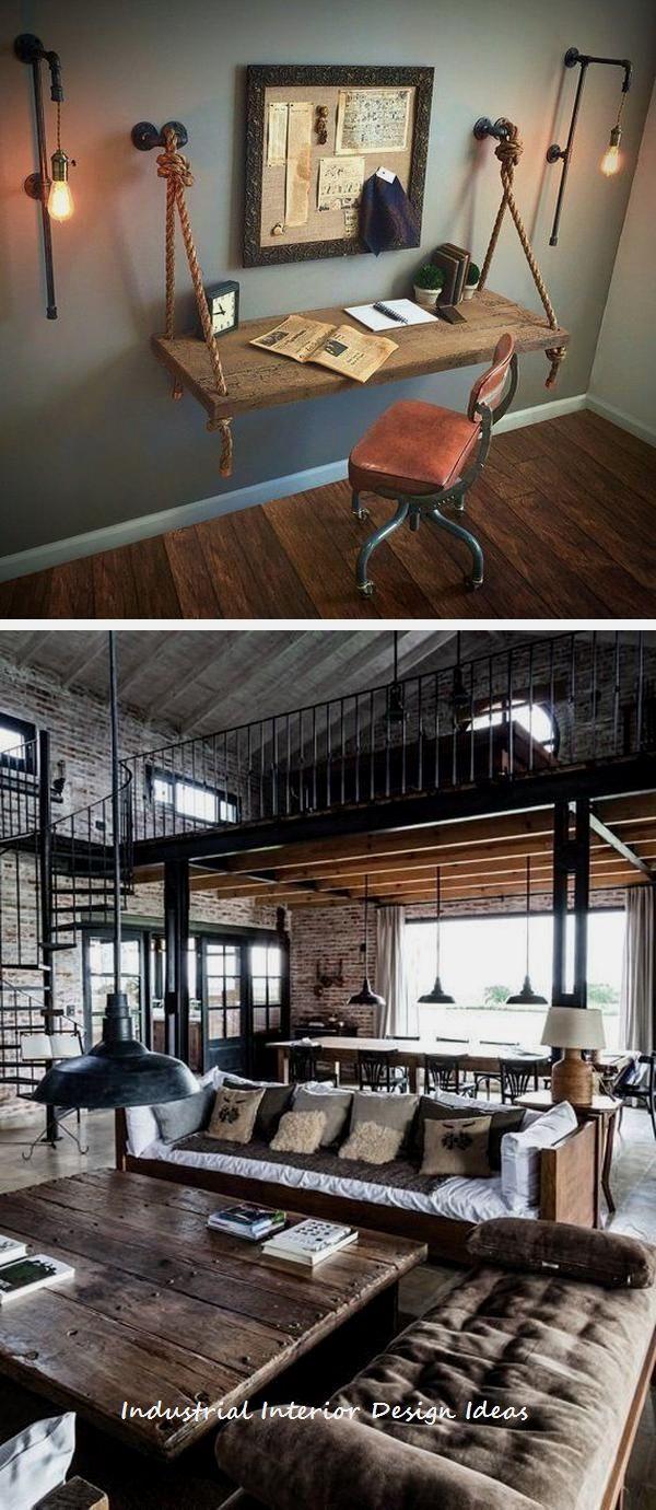 20 Diy Industrial Design Ideas Industrial Industrial Home Design Rustic Home Design Industrial Interior Design Diy industrial bedroom ideas