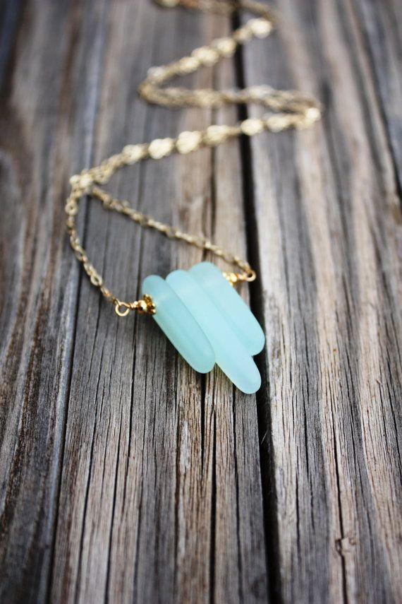 Photo of Sea Glass Necklace Seaglass Necklace Sea Glass Jewelry Beach