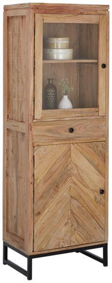 Trendige Vitrine aus Akazienholz - für ein gemütliches Zuhause
