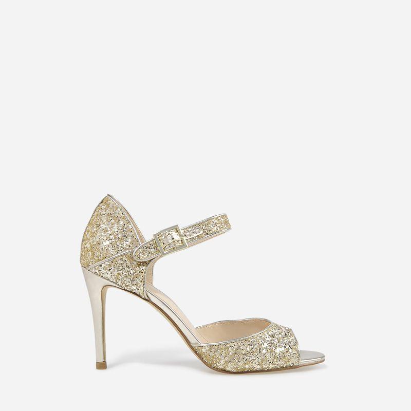22bc090fbf0 Glitter Dorsay Heels - Gold - Heels - Shoes