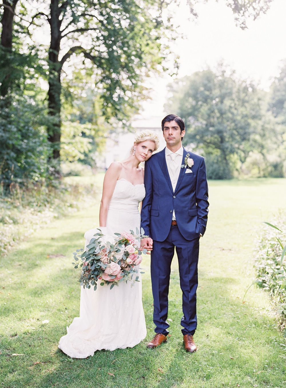 Romantic country wedding in germany with tulle u lace rosa clara