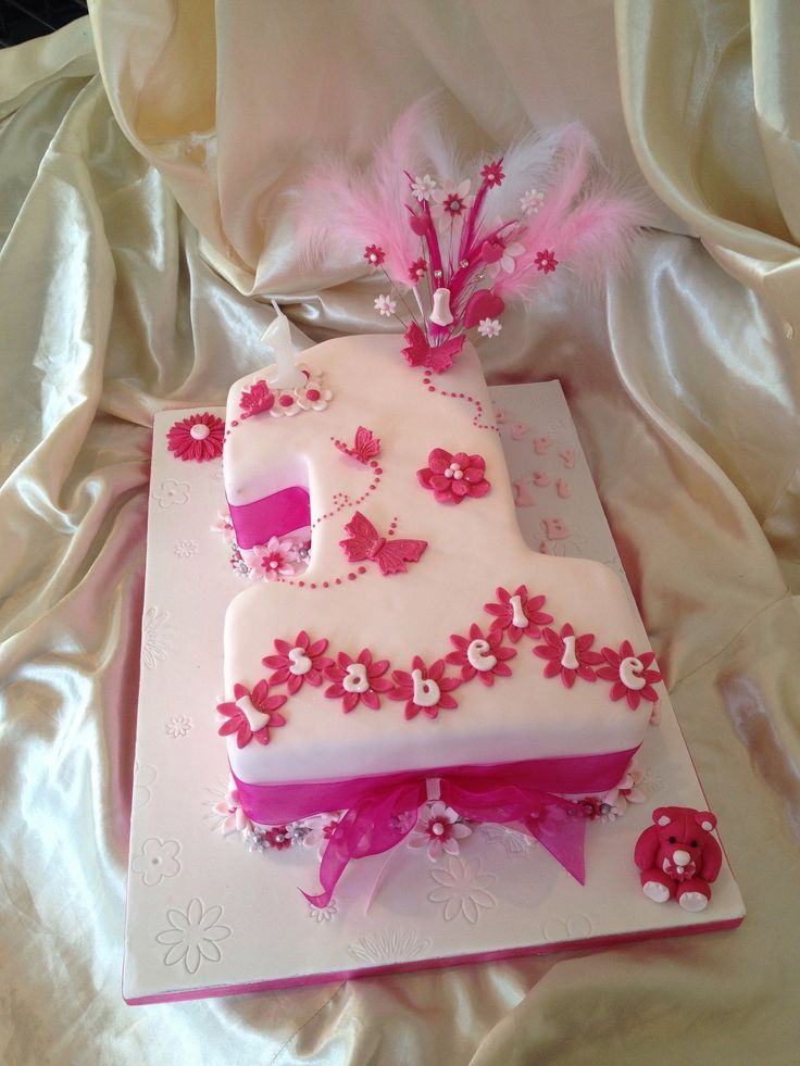 1st girl birthday cake designs Google Search Girls