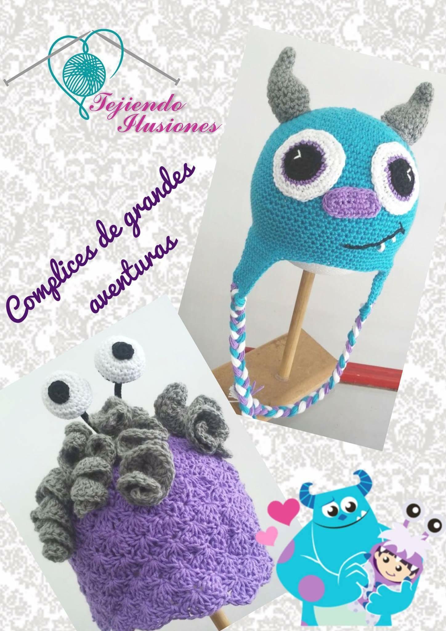 Modelo: Monster inc #Sullivan #Boo #Crochet #Ganchillo #Oaxaca ...