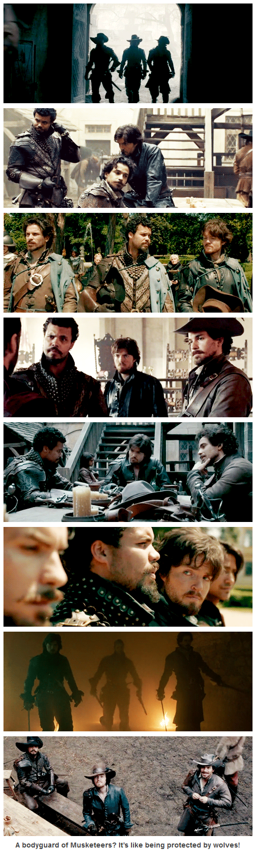 The Musketeers - 'Protected by wolves' Athos, Porthos  Aramis