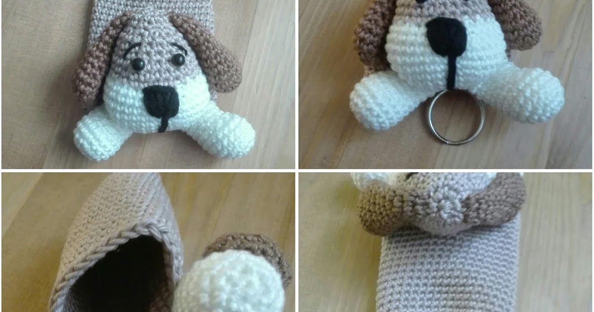 Sleutelhangerhoesje Hond Materialen Haaknaald 25mm Paar