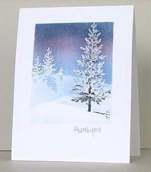 Stampin Up: Lovely as a Tree. Winter shadow card. Directions on Heather's blog for how she created this beautiful card!