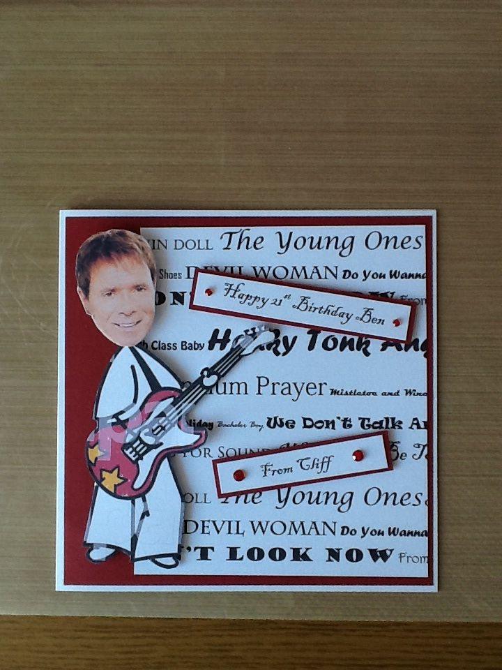 Personalised Cliff Richard Fan Card Cliff Richard Pinterest