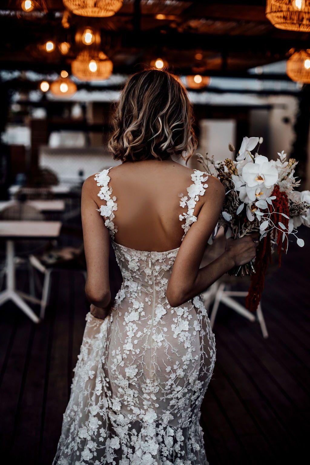 Galia Lahav low back wedding dress couture