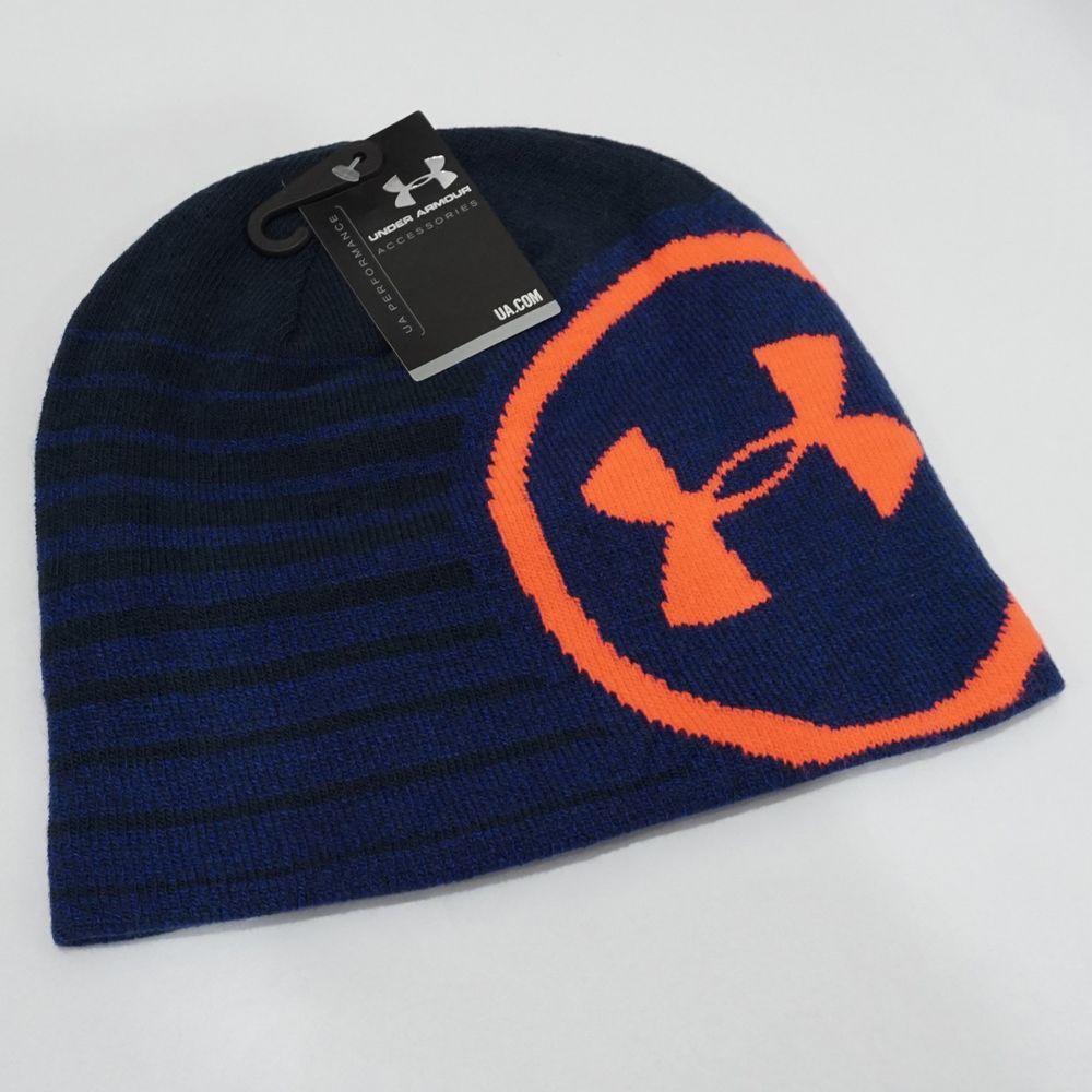 cafa0e36e0b NWT Under Armour Men s Blue Billboard Knit Beanie Hat One Size  Underarmour   Beanie