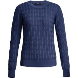 Photo of Fay – Rundhalspullover, Blau, L – Knitwear Fay
