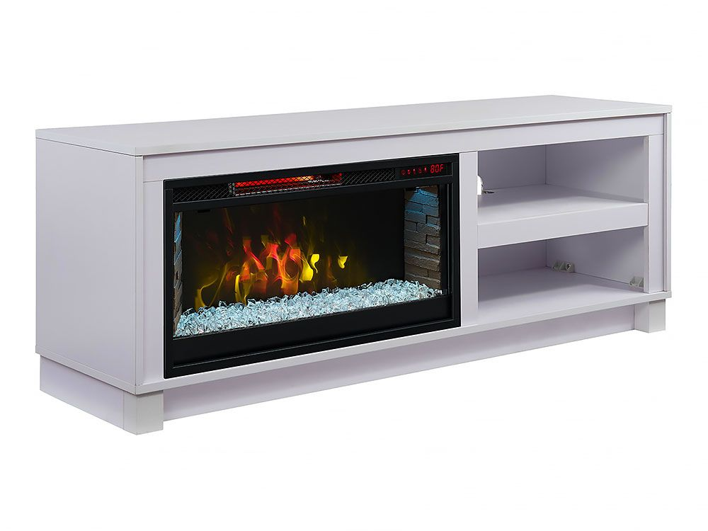 Cameron Electric Fireplace Tv Stand In White Cs 28mm1030 Wht