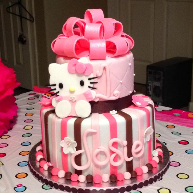 Hello Kitty 2nd Birthday Cake Cool Birthday Cakes Hello Kitty Birthday Cake Cake