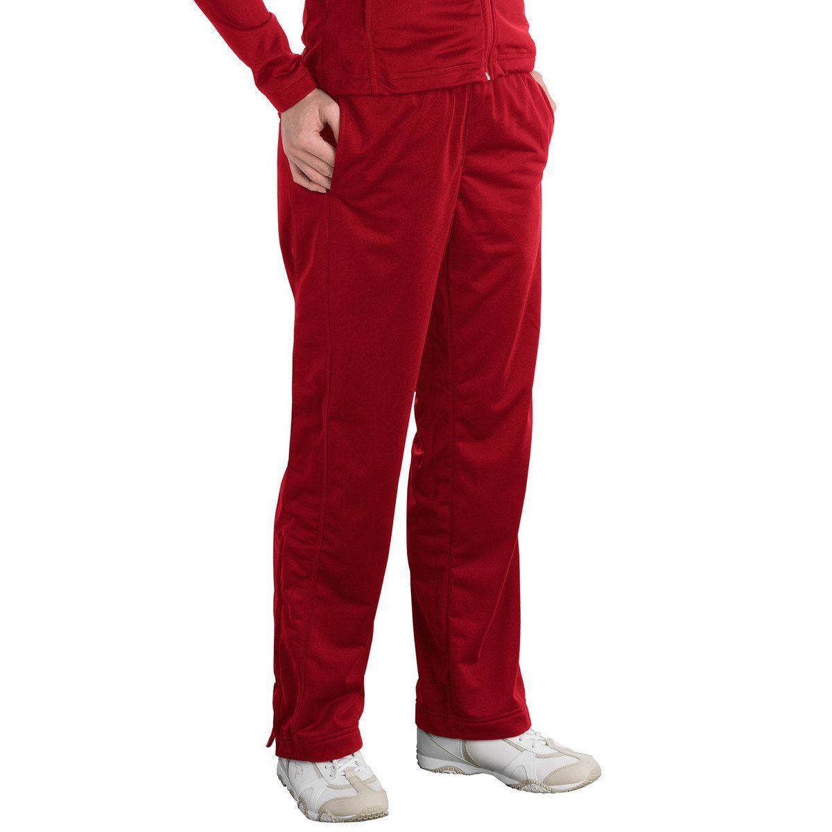 SportTek Women's True Red Tricot Track Pant Tricot