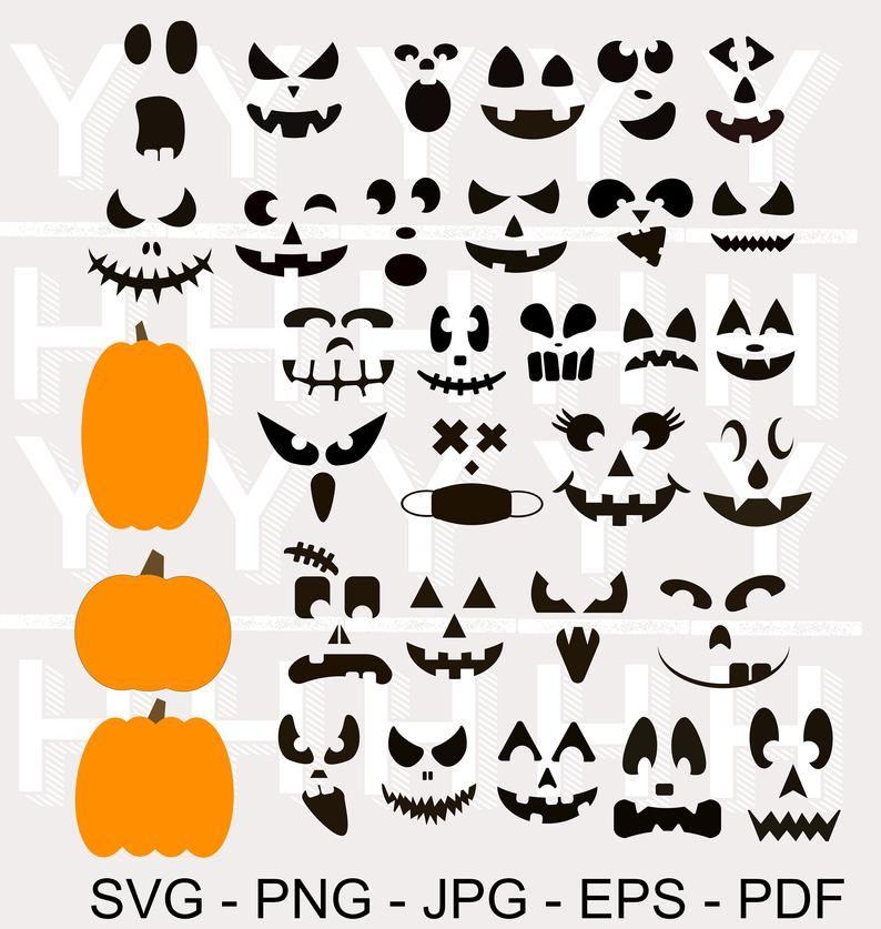30 Pumpkin Face Svg Bundle Cute Jack O Lantern Png Bundle Halloween Svg Bundle Pumpkin Png Pumpkin Clipart Halloween Clipart Pumpkin Faces Jack O Lantern Jack O Lantern Faces