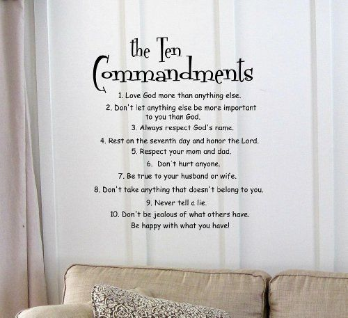 The 10 Commandments Vinyl Wall Art Inspirational Quotes And Saying Home Decor Decal Sticker By Sakari Grap Art Quotes Inspirational Vinyl Quotes Vinyl Wall Art