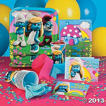 Smurf S Party Supplies Girls Party Ideas Birthday Party Themes