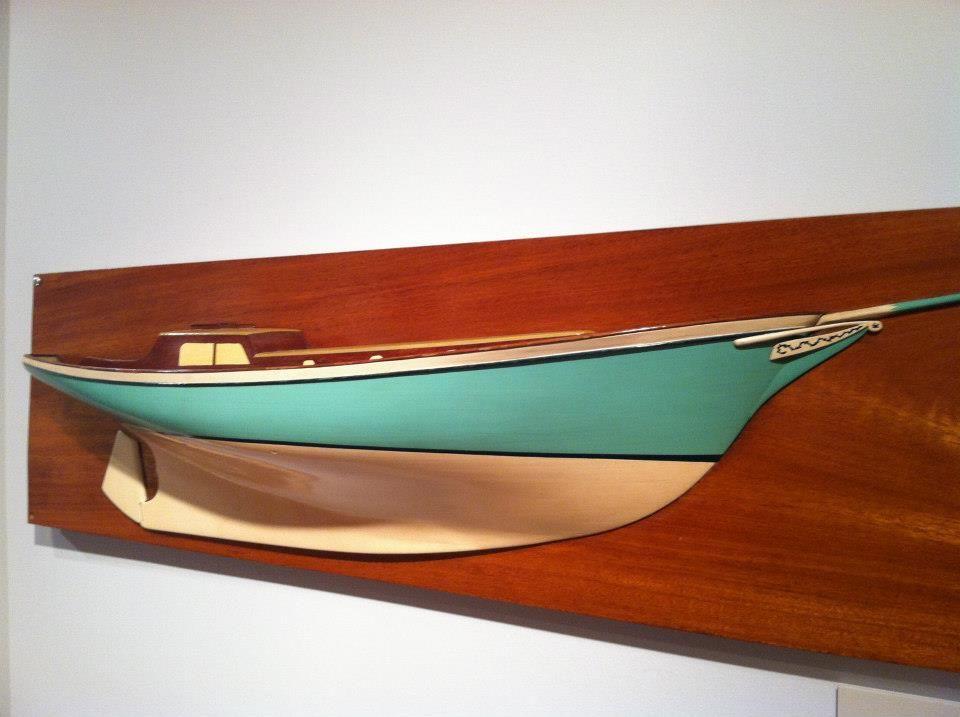A Half Model Of A Boat By F Spaulding Dunbar As Seen In 2013 In
