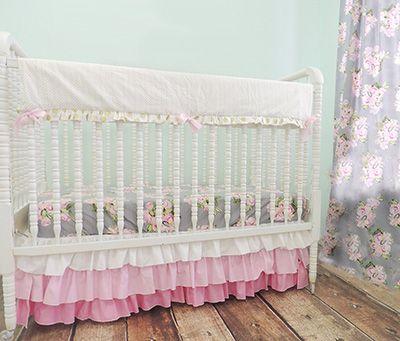 Shabby Chic Baby Bedding vintage inspired pattern shabby chic baby bedding set in grey