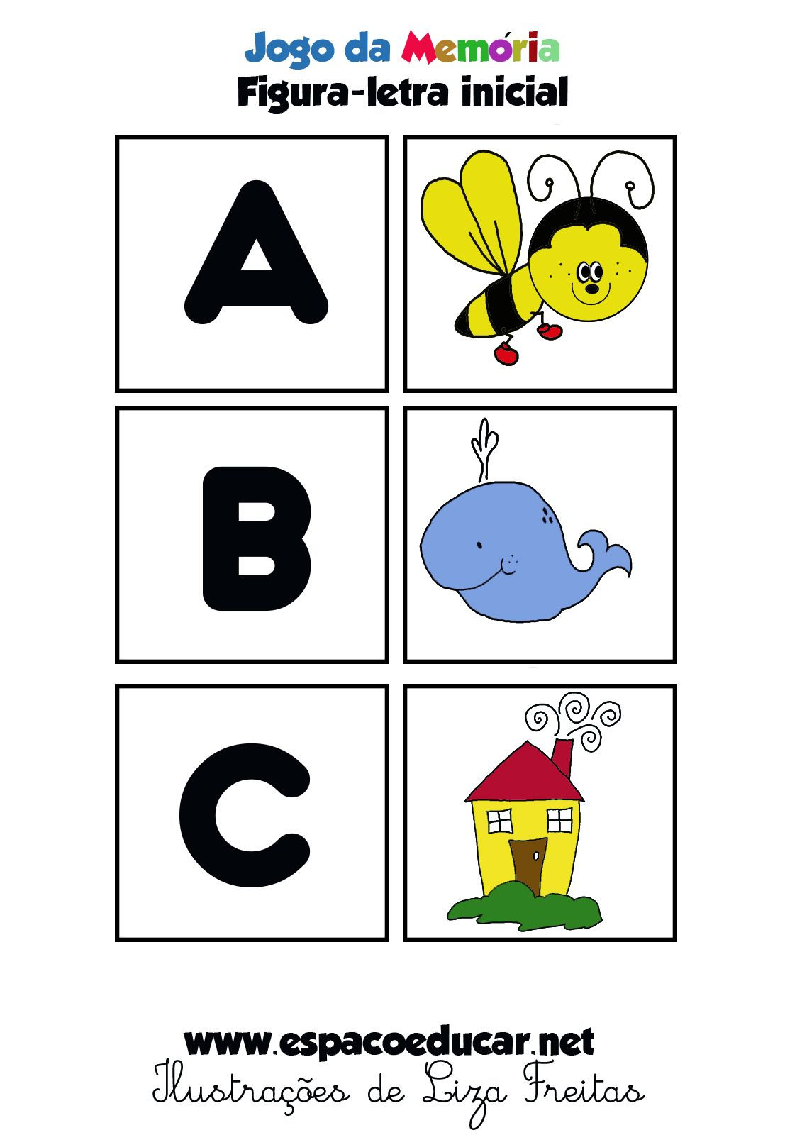 Jogo Educativo Para Imprimir Brincar E Aprender Em Dois Formatos Colorido E Em Preto E B Jogos Educativos Jogos De Alfabetizacao Atividades De Alfabetizacao