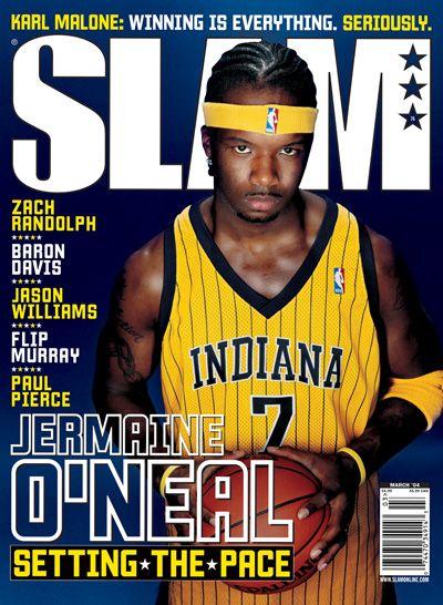 Slam 76 Slam Indiana Pacers Basketball Jermaine O Neal Slam Magazine