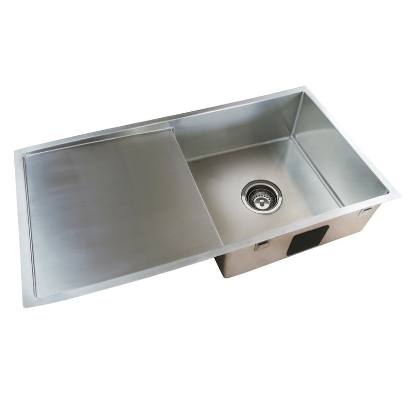 Find Everhard Squareline Plus Single Bowl Sink and Drainer with ...