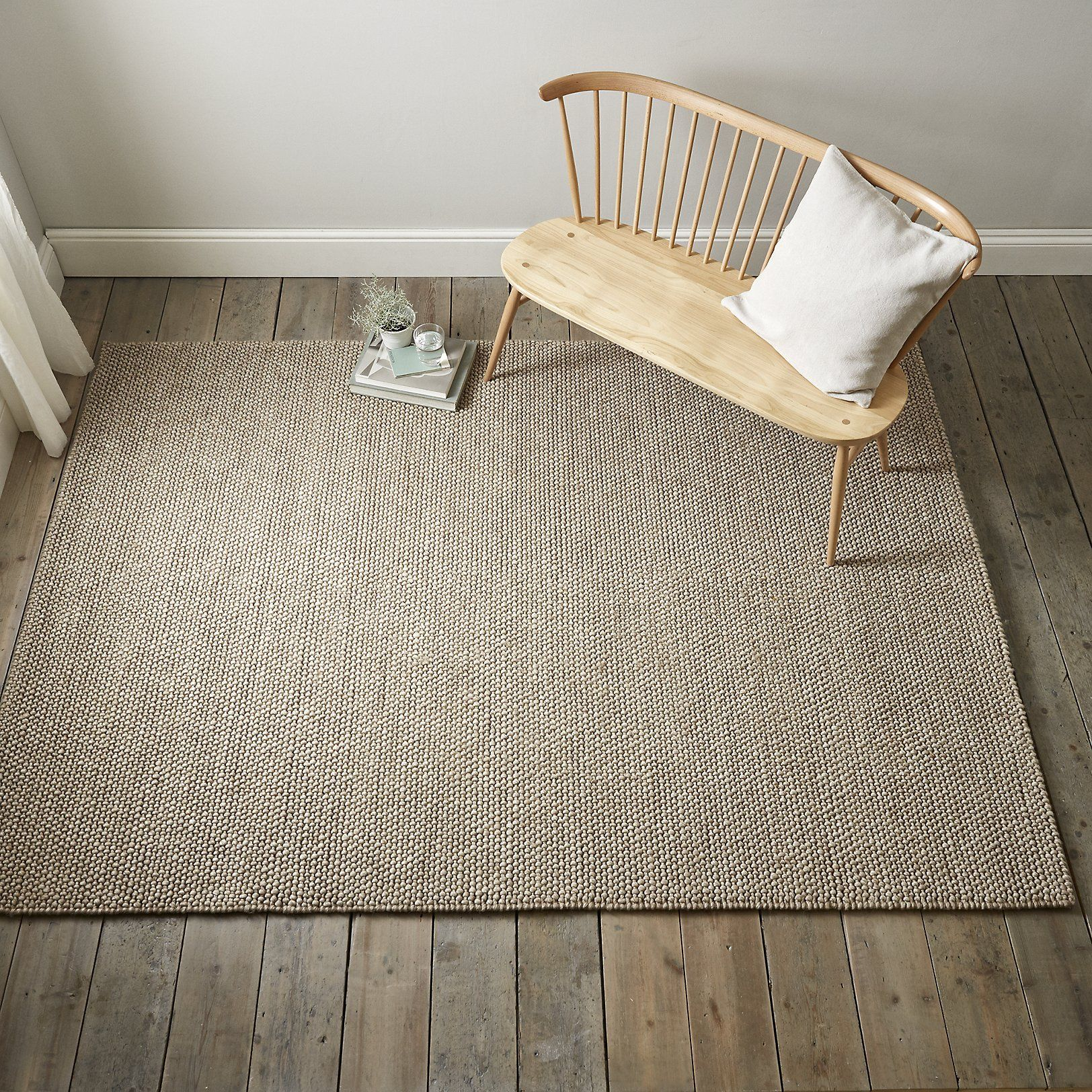 Hampton Looped Wool Rug Rugs Home Accessories The White Company Uk