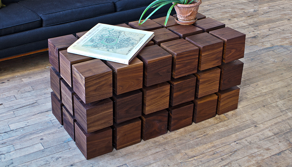 The Float Table Is A Matrix Of Magnitized Wooden Cubes